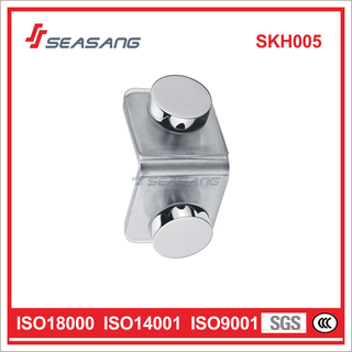 Stainless Steel Shower Door Glass Clamp Skh005 for 90 Degree