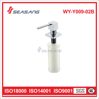 Kitchen Manual Stainless Steel Liquid Soap Dispenser with Plastic bottle WY-Y009-02B