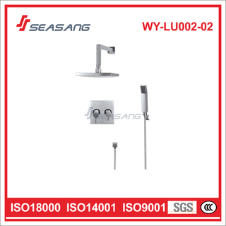Square Stainless Steel Rainfall Shower Set with Handheld Shower