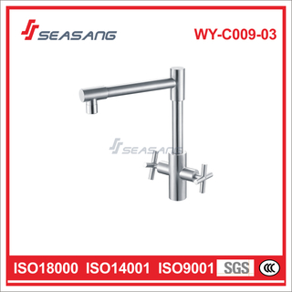 Stainless Steel Double Handle Faucet for Kitchen Sink WY-C009-03