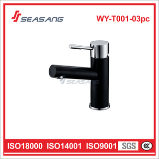 Stainless Steel Solid Casting Bathroom Lavatory Basin Black Color Tap