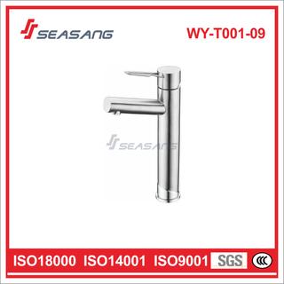 Lavatory Toilet Stainless Steel Polished Bathroom Basin Tall Vessel Faucet